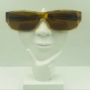 Hugo Boss Brown Rectangular Sunglasses Frames